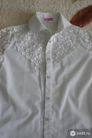 Школьные белые блузки. Фото 1.