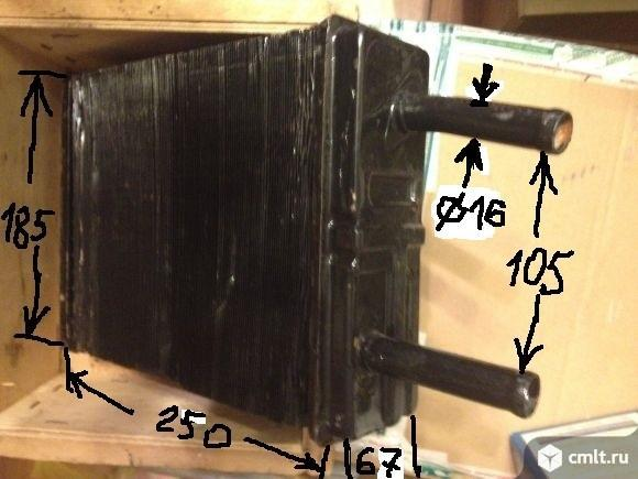 Радиатор отопителя газ  медный. Фото 1.