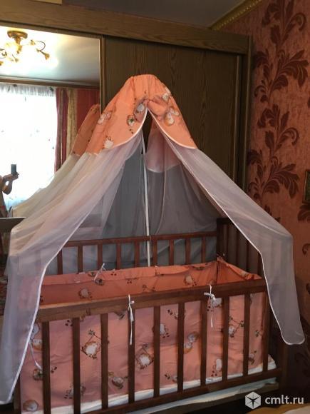 Детская кроватка качалка+матрац+бортики. Фото 1.