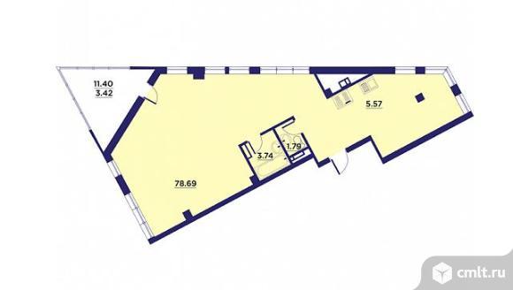 1-комнатная квартира 93,21 кв.м. Фото 1.
