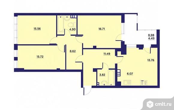 4-комнатная квартира 103,14 кв.м. Фото 1.