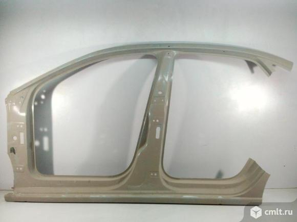 Боковина левая порог стойка VW POLO седан 10-17 б/у 6RU809605C 6RU809605B 4*. Фото 1.