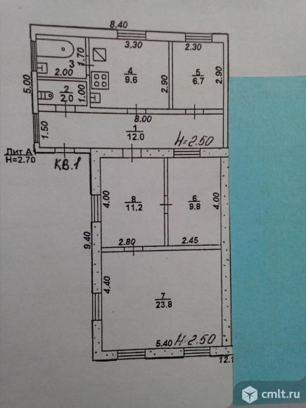 Часть дома 78,5 кв.м. Фото 6.