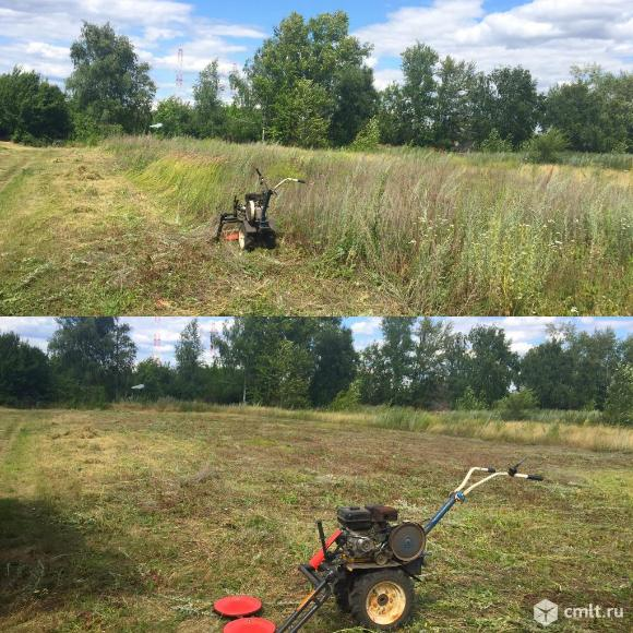 Покос (скос) травы ,стрижка газона в Воронеже. Фото 1.
