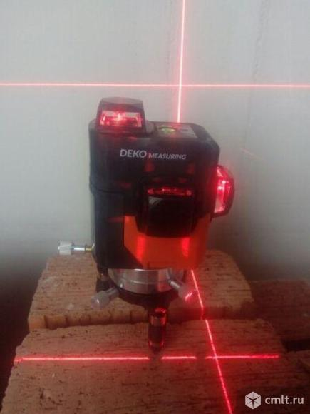 Лазерный уровень 3D (нивелир) 360 градусов. Фото 1.