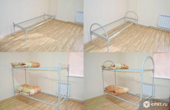 Кровати металлические для рабочих, общежитий. Фото 1.