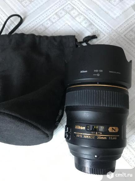 Объектив Nikon 35мм 1.4G AF-S. Фото 1.