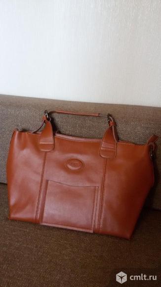 Натуральная кожа сумка. Фото 1.