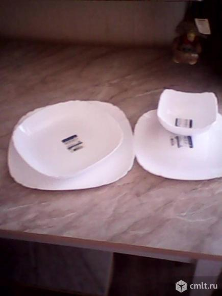 4 тарелки разных размеров - Luminarc. Фото 1.