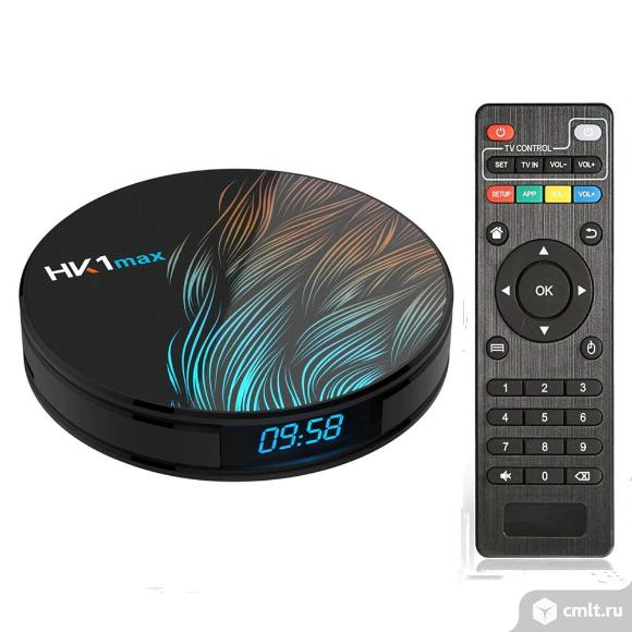 TV приставка Android 9 TV BOX wifi c часами новая. Фото 1.