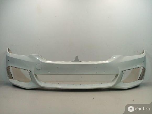 Бампер передний под паркт. м-пакет PERFORMANCE BMW 5 G30 17- б/у 51118069072 4*. Фото 1.