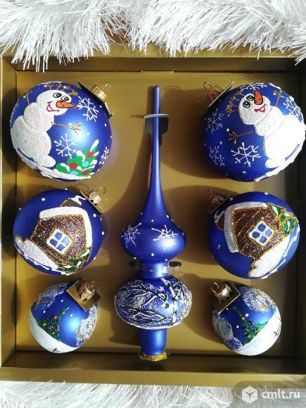 Наборы стеклянных игрушек Шары Макушка Новый год. Фото 15.