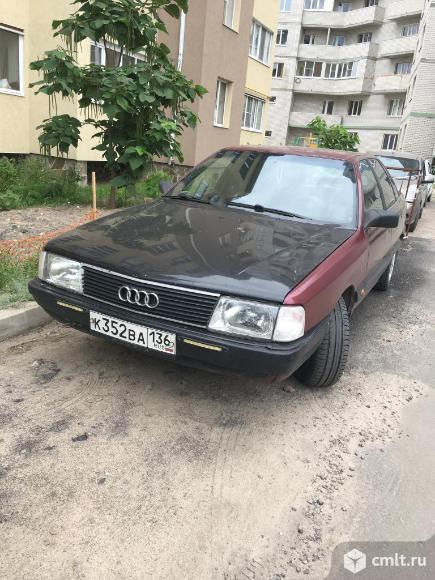 Audi-100 1989 г. в., 1.8, карбюратор, 250000 км, красный. Фото 1.