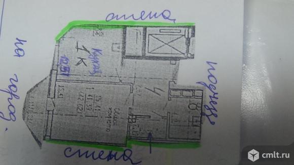 1-комнатная квартира 42,62 кв.м. Фото 1.