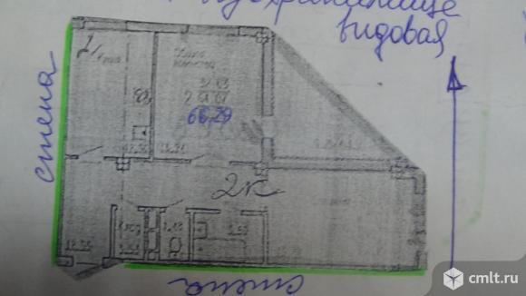 2-комнатная квартира 66,29 кв.м. Фото 1.