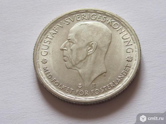 2 кроны 1945 Швеция серебро. Фото 1.