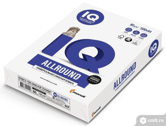 Бумага офисная А4 IQ ALLROUND. Фото 1.
