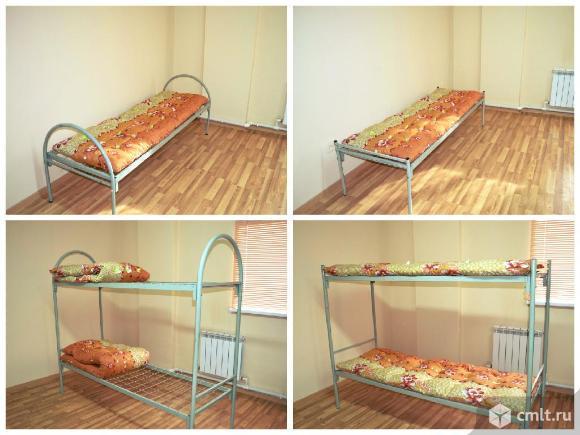 Кровати металлические, хороший выбор для бытовок, строителей и тд.. Фото 1.