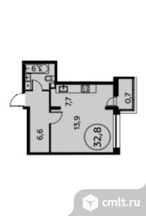1-комнатная квартира 32,8 кв.м. Фото 1.