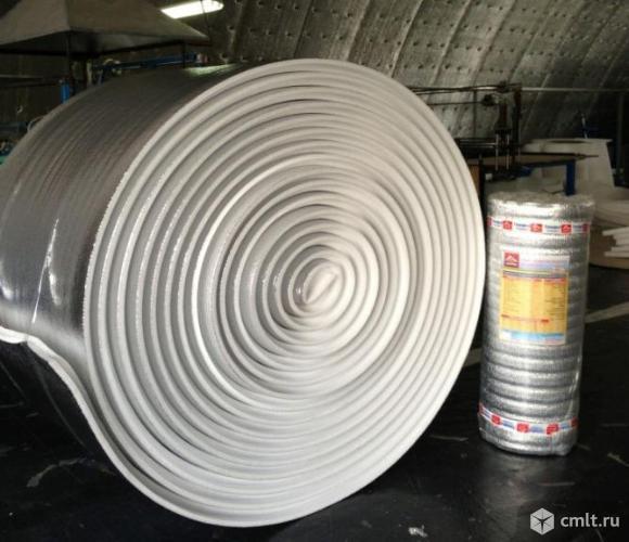 Утеплитель металлизир. НПЭ ТЕПОФОЛ 1,05А в рулонах 10,5 п.м*1,05м толщина 50мм. Фото 1.