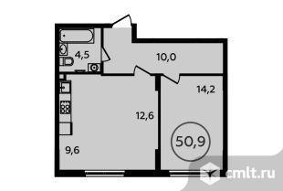 2-комнатная квартира 50,9 кв.м. Фото 1.