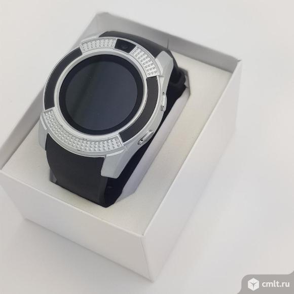 Умные часы Smart watch В8 Серебро. Фото 1.