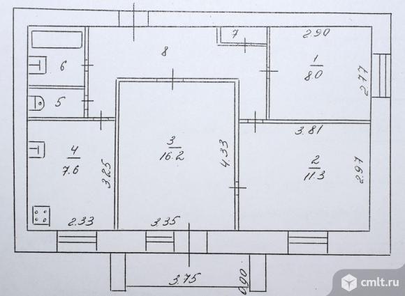 3-комнатная квартира 58,4 кв.м. Фото 10.