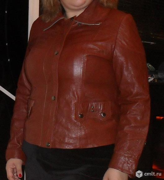 Куртка 52 размер искусственная кожа. Фото 1.
