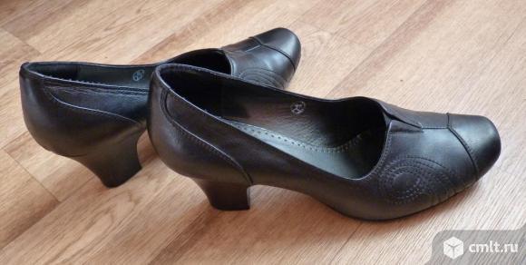 """Туфли черные из натуральной кожи, """"Марко"""". Фото 1."""