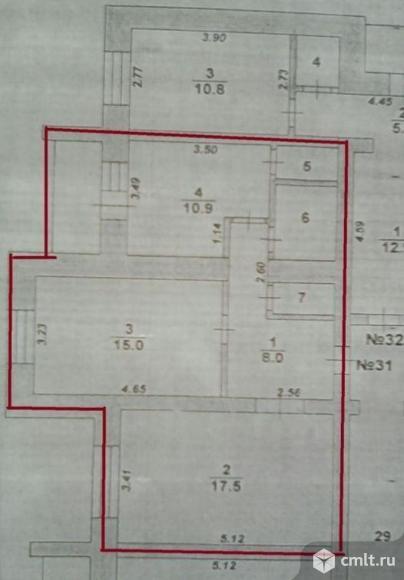 2-комнатная квартира 58 кв.м. Фото 19.
