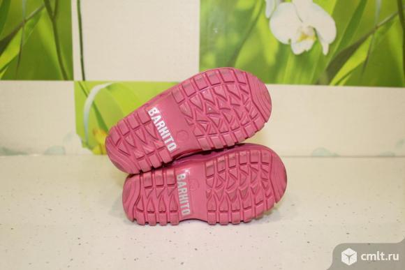 Сапоги резиновые утепленные фирма Barkito для девочки. Фото 4.