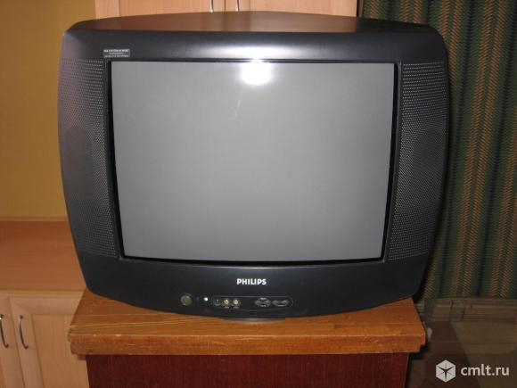 Телевизор кинескопный цв. Philips 21 PT 2381\58R. Фото 1.