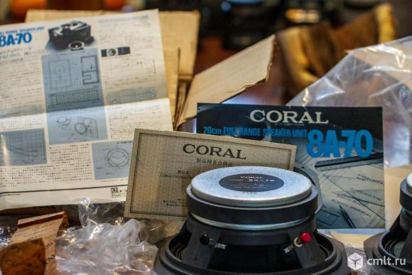 Динамики coral 8a-70 новые. Фото 1.