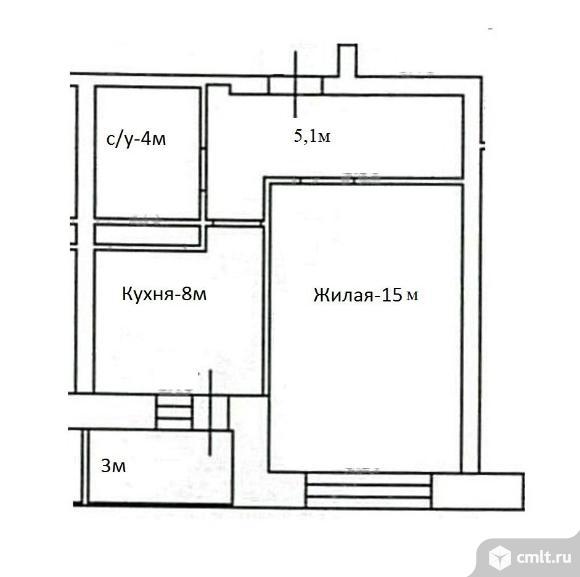 От застройщика 1-комнатная квартира 33,6 кв.м. Дом сдан.. Фото 9.