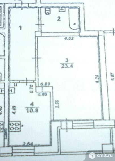 1-комнатная квартира 52,2 кв.м. Фото 7.