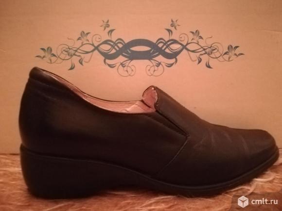 Туфли нат. кожа.осенние. Фото 4.