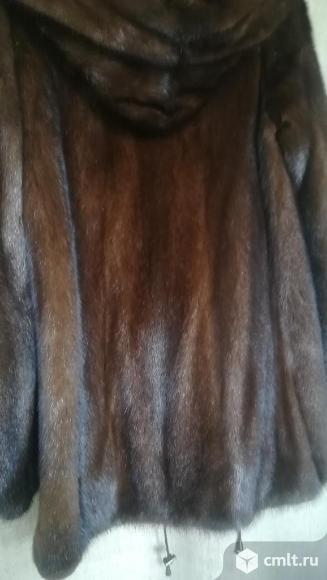 Шуба норковая с капюшоном 42-44 размер. Фото 1.
