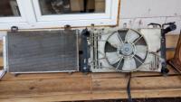 для Toyota Avensis радиатор охлаждения двигателя, диффузор вентилятора охлаждения двигателя, кассета с радиаторами