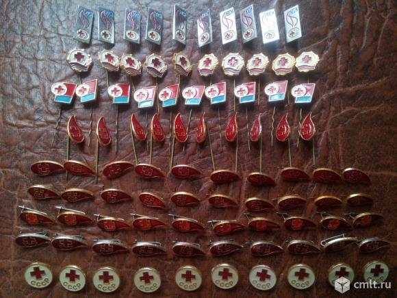 90шт. Одним лотом. 9 видов. Красный крест СССР. Фото 1.
