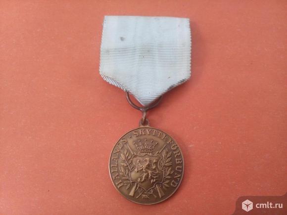 """Швеция. медаль """"За отличие в стрельбе из винтовки"""". Фото 1."""