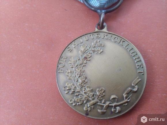 """Швеция. медаль """"За отличие в стрельбе из винтовки"""". Фото 4."""