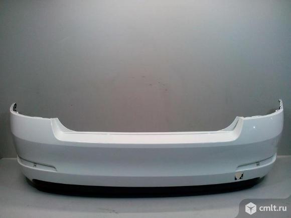 Бампер задний + спойлер SKODA OCTAVIA A7 13-17 б/у 5EU807421 5E5807521A 4*. Фото 1.