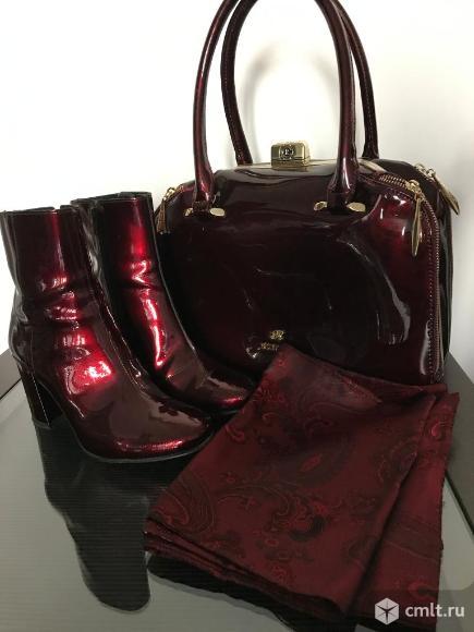 Полусапоги (демисезонные) Carlo Pazolini+сумка + шарф. Фото 1.