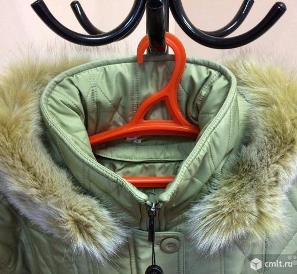 Женская куртка пальто стёганная утеплённая пухом. Фото 2.