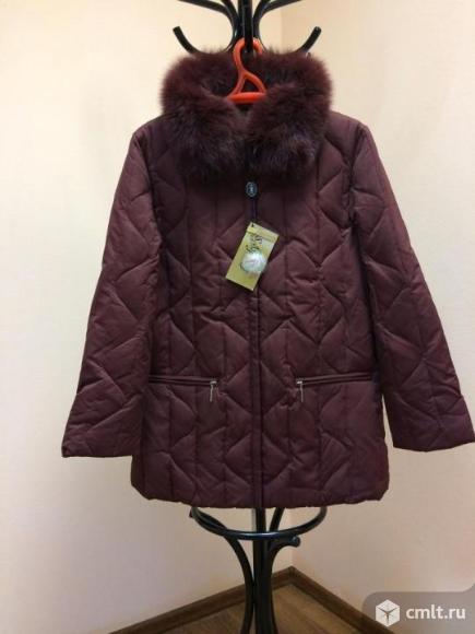 Утеплённая зимняя женская куртка короткая. Фото 1.