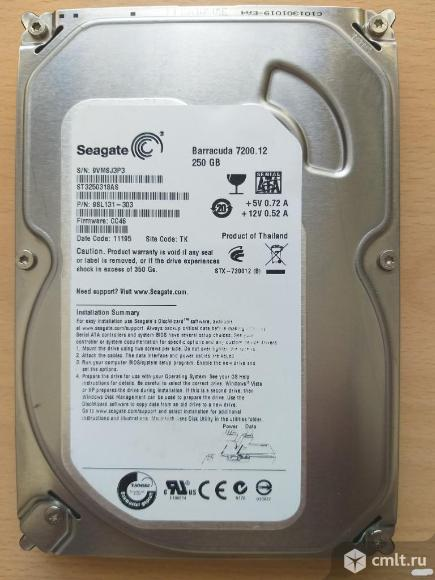 Жесткий диск 250Gb Seagate 7200.12 Barracuda [ST3250318AS]. Фото 1.