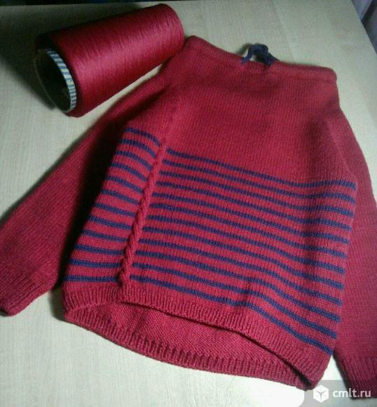 Свитшот ручной вязки. Фото 1.
