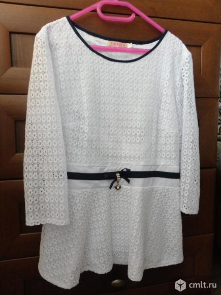 Нарядная белая блузка. Фото 1.