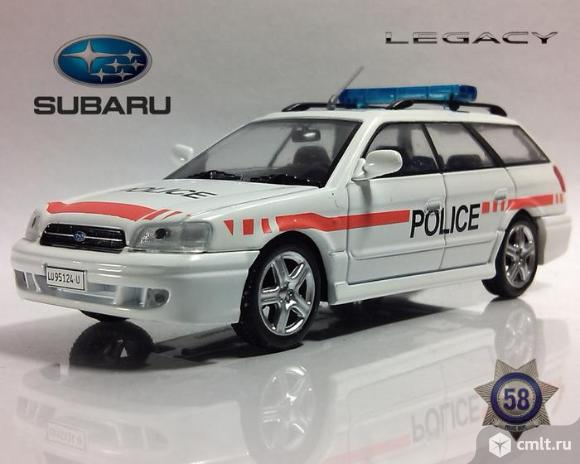 Полицейские машины мира 58 SUBARU LEGACY. Полиция Швейцарии. Фото 1.