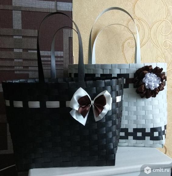 Оригинальные плетеные сумки